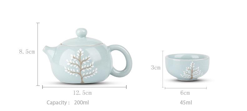 Ru ware style tea set